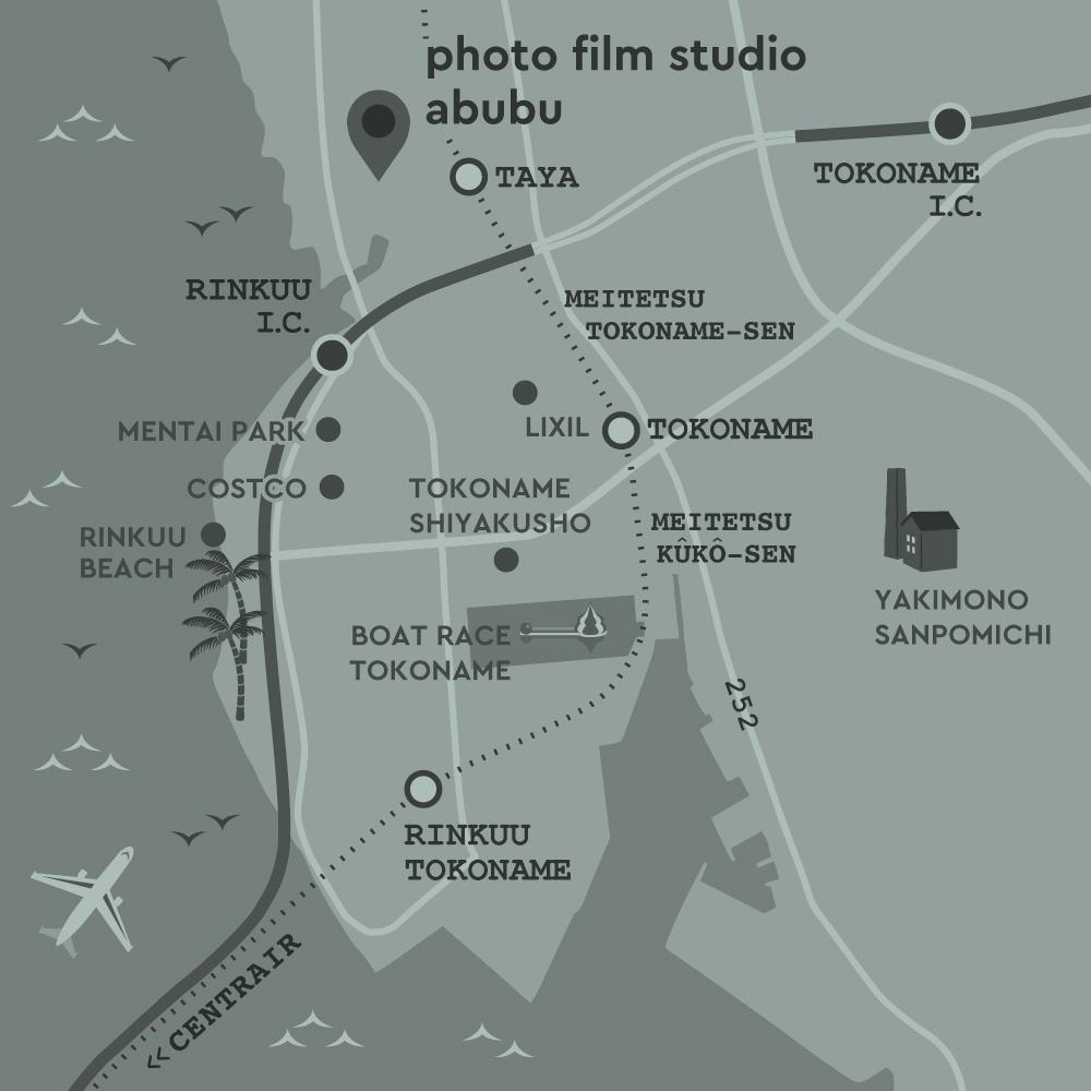 photo studio abubu アクセスマップ